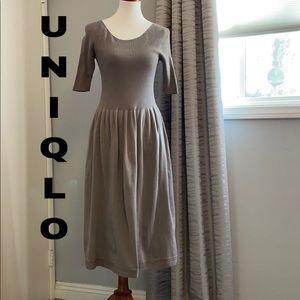 Uniqlo sweater knit midi dress
